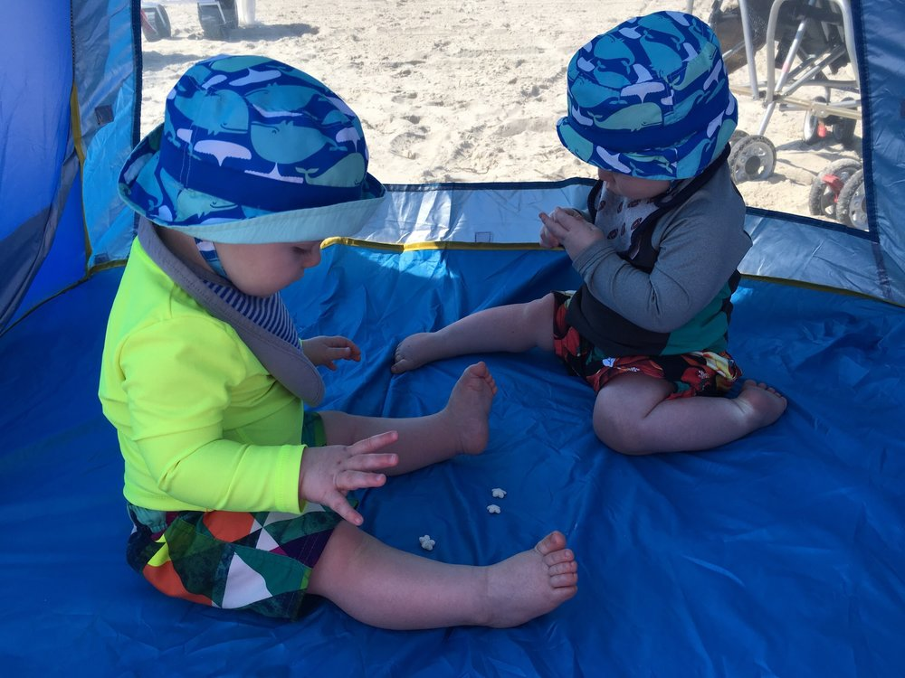 Julian & Joshua, first beach trip