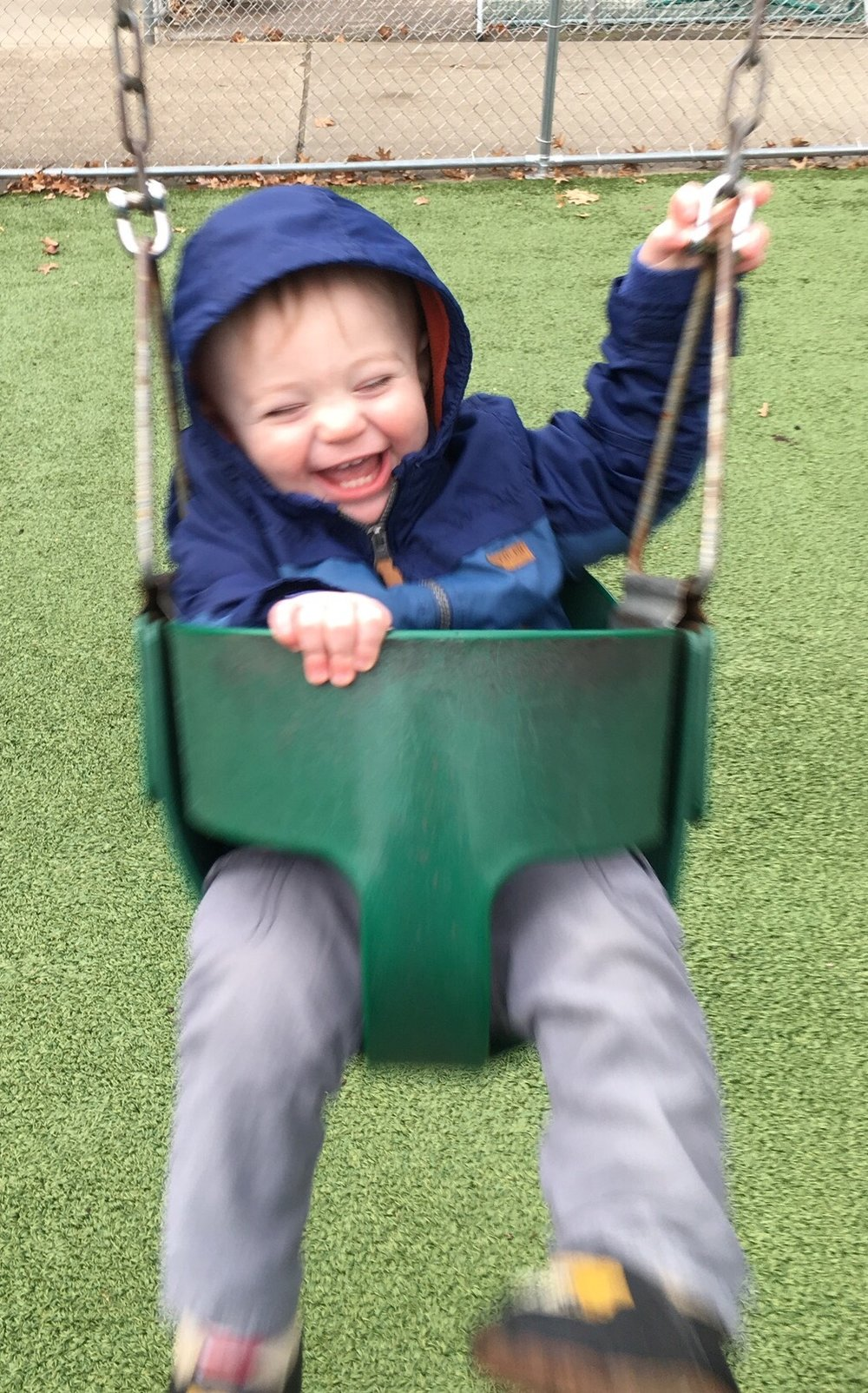 Julian laughs when he swings. Joshua just chills out.