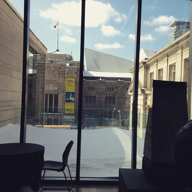 Toronto, you're lookin great from inside the @gardinermuseum!