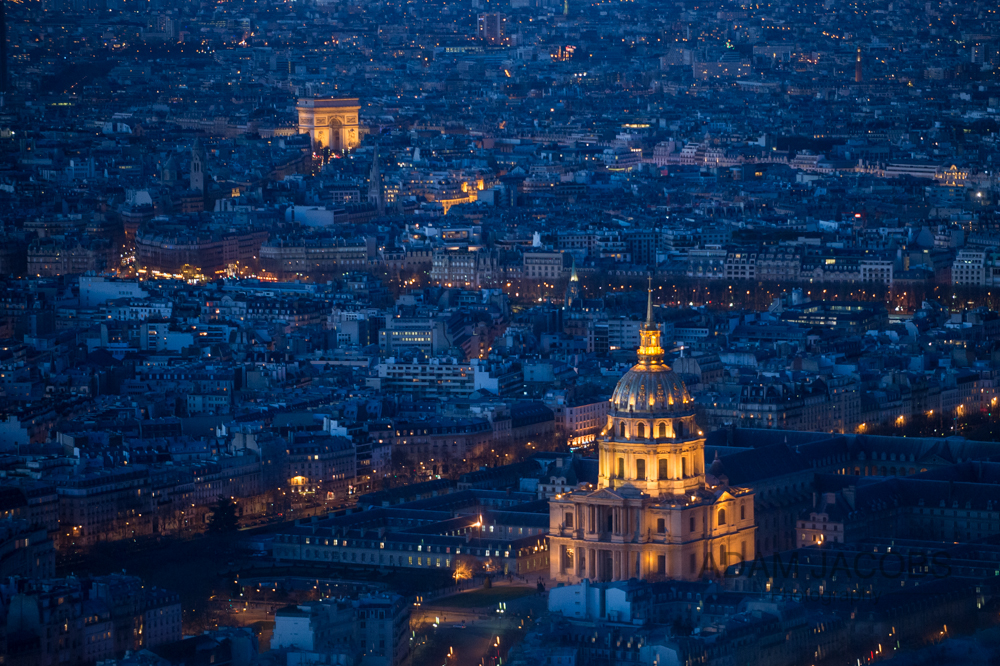 Paris Skyline Dusk