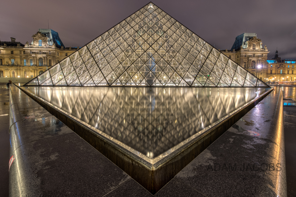 Louvre Museum Reflecting Pools Paris