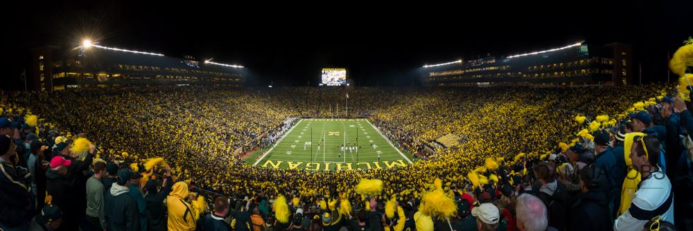 Michigan Stadium Under The Lights Adam Jacobs Photography