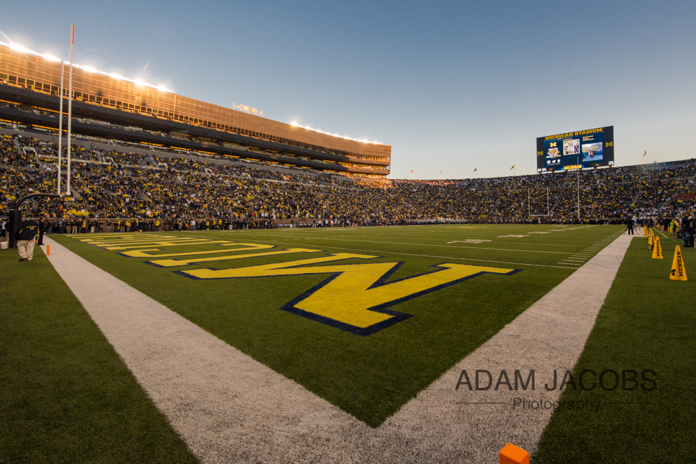 Michigan Football Stadium Under the Lights_Adam Jacobs Photography-2.jpg