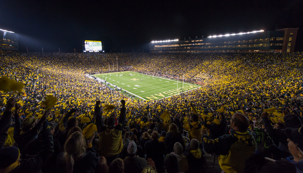 Michigan Stadium Under The Lights Adam Jacobs Photography3