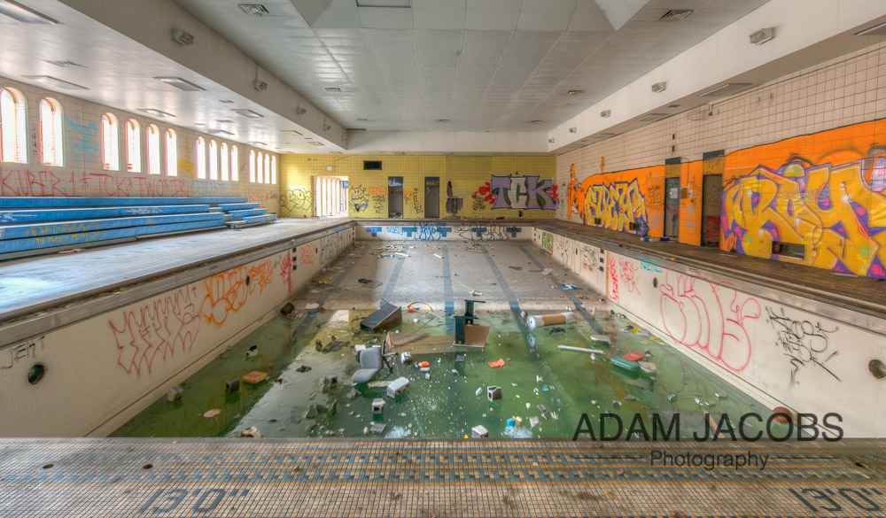 Abandoned Swimming Pool_Adam Jacobs Photography Art Print To Buy 2
