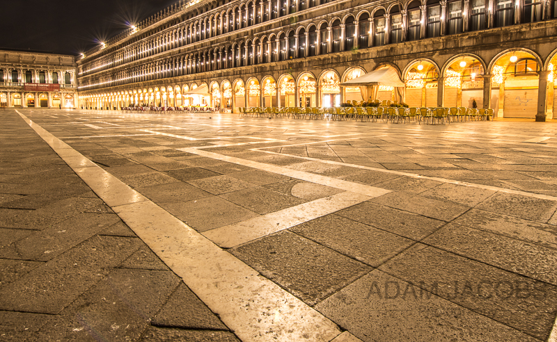 Adam Jacobs Photography Venice St Marks Square Landscape Picture Italy Travel