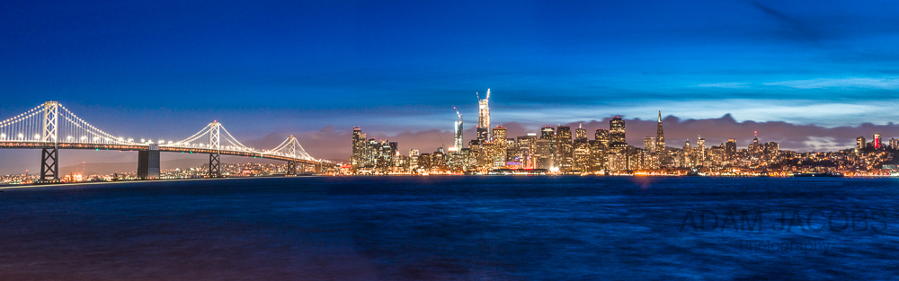 San Francisco Panorama at Twilight - Adam Jacobs Photography Landscape Photograph