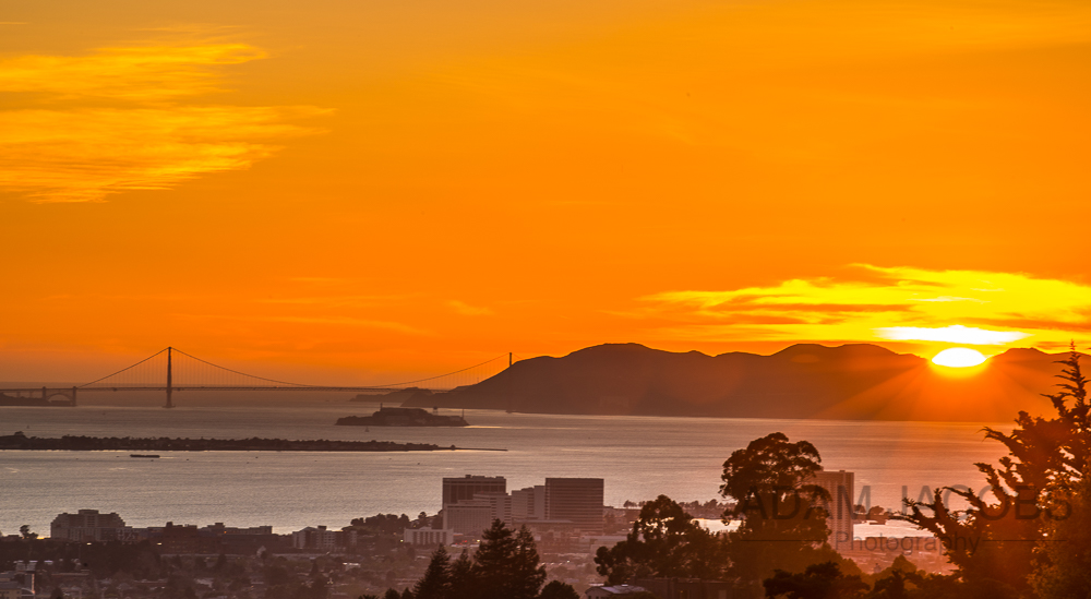 Adam Jacobs Photography - Golden Gate Bridge San Francisco Landscape Photograph at Sunset