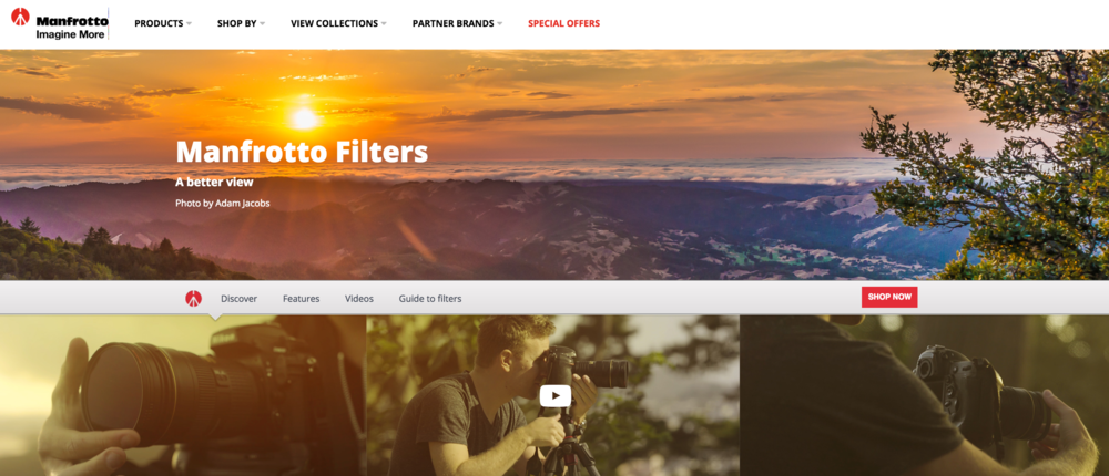 Click on the image above to view the landing page that I have created with Manfrotto which has a bunch of great material on learning to better use lens filters to improve your photography.