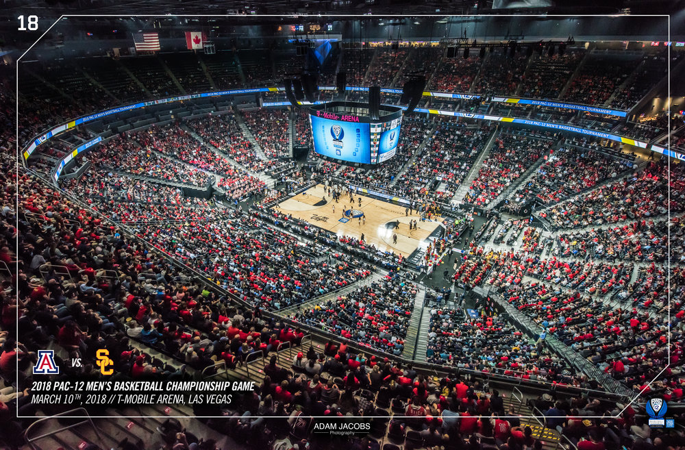 Adam Jacobs Photography, Pac 12, Mens Basketball, Tournament, Las Vegas, T Mobile, Hoops, March Madness, Arena, Stadium, Arizona, USC 3