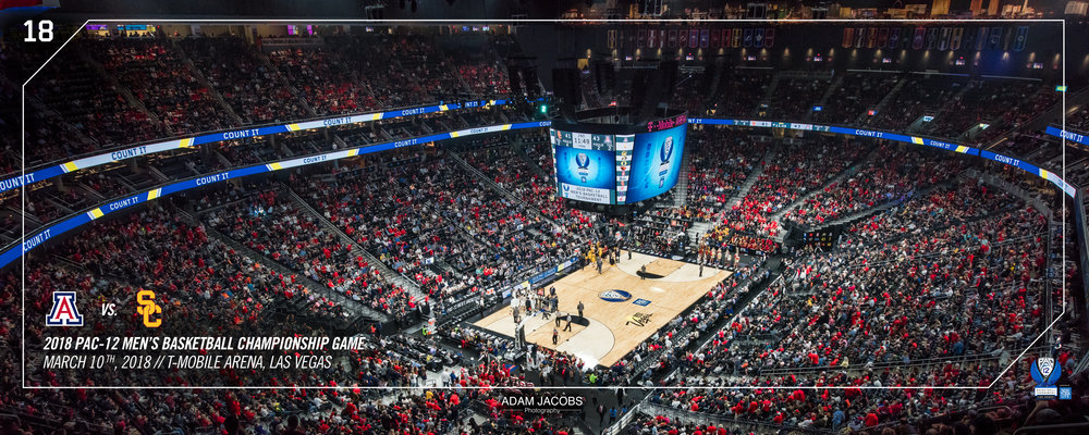 Adam Jacobs Photography, Pac 12, Mens Basketball, Tournament, Las Vegas, T Mobile, Hoops, March Madness, Arena, Stadium, Arizona, USC 1