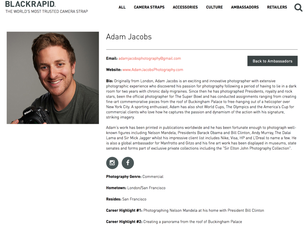 Adam Jacobs Photography Black Rapid Global Ambassador San Francisco