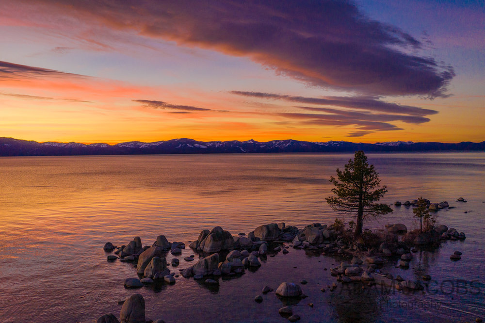 Adam Jacobs Photography Winter Sunset Lake Tahoe California  - 3