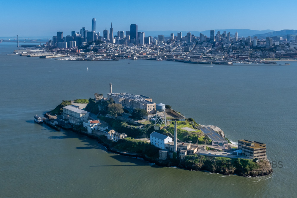 Asking my pilot to position the helicopter lower enabled me to get this unique shot of Alcatraz in the foreground with the entire San Francisco city skyline perfectly composed behind it.