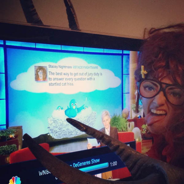 ME WITH TWEET FEATURED ON ELLEN!