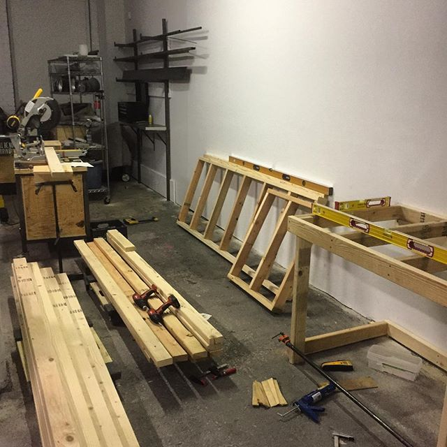 New miter saw station in the works #levelsonlevels #MIAKCMO #choptownusa