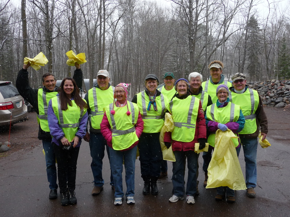 PLA Board Members and other friends helping with the Adopt-a-Highway cleanup.