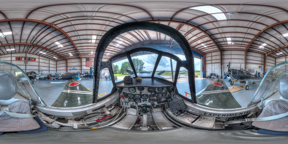 Panorama of the pilots position