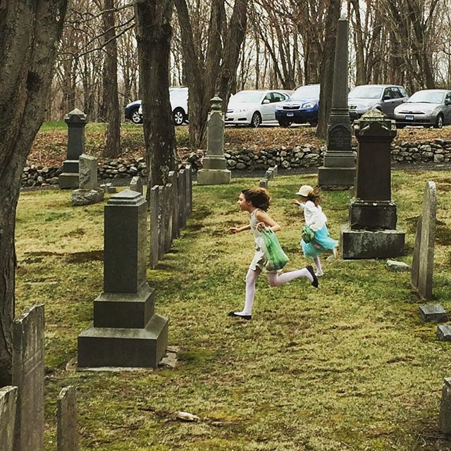 Our church youth during the annual Easter Egg hunt! #bethanyconnecticut #christchurchbethany #iseeone #isawitfirst