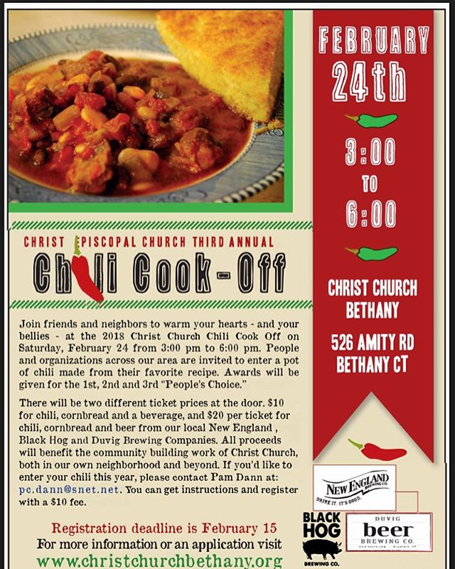 Chili Cook-Off is back! Enter for bragging rights and to have a great time. #chilicookoff #christchurchbethany #thatsspicy