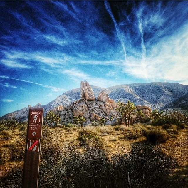 Headstone Rock, Joshua Tree National Park, Joshua Tree, California | Happy Place of @eddyizm | #adventure #bucketlist #climb #cali #discover #nature #outdoors #natureaddict #naturelover #naturegram #travel #traveladdict #travelgram #nationalpark #joshuatree #wander #wanderlust #mountains #sky #clouds #happyplace