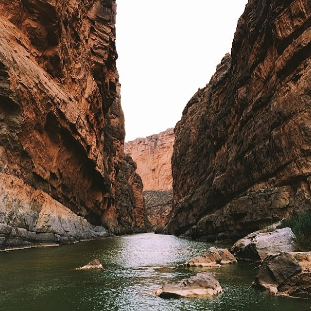 Santa Elena Canyon, Big Bend National Park, Texas | Happy Place of @andrewmiller07 | #adventure #bucketlist #climb #clouds #discover #explore #bigbend #canyon #gooutside #greatoutdoors #hike #happyplace #nature #naturegram #naturelover #nationalpark #natureaddict #outdoors #neverstopexploring #park #potd #rei1440project #river #sky #sea #wander #wanderlust