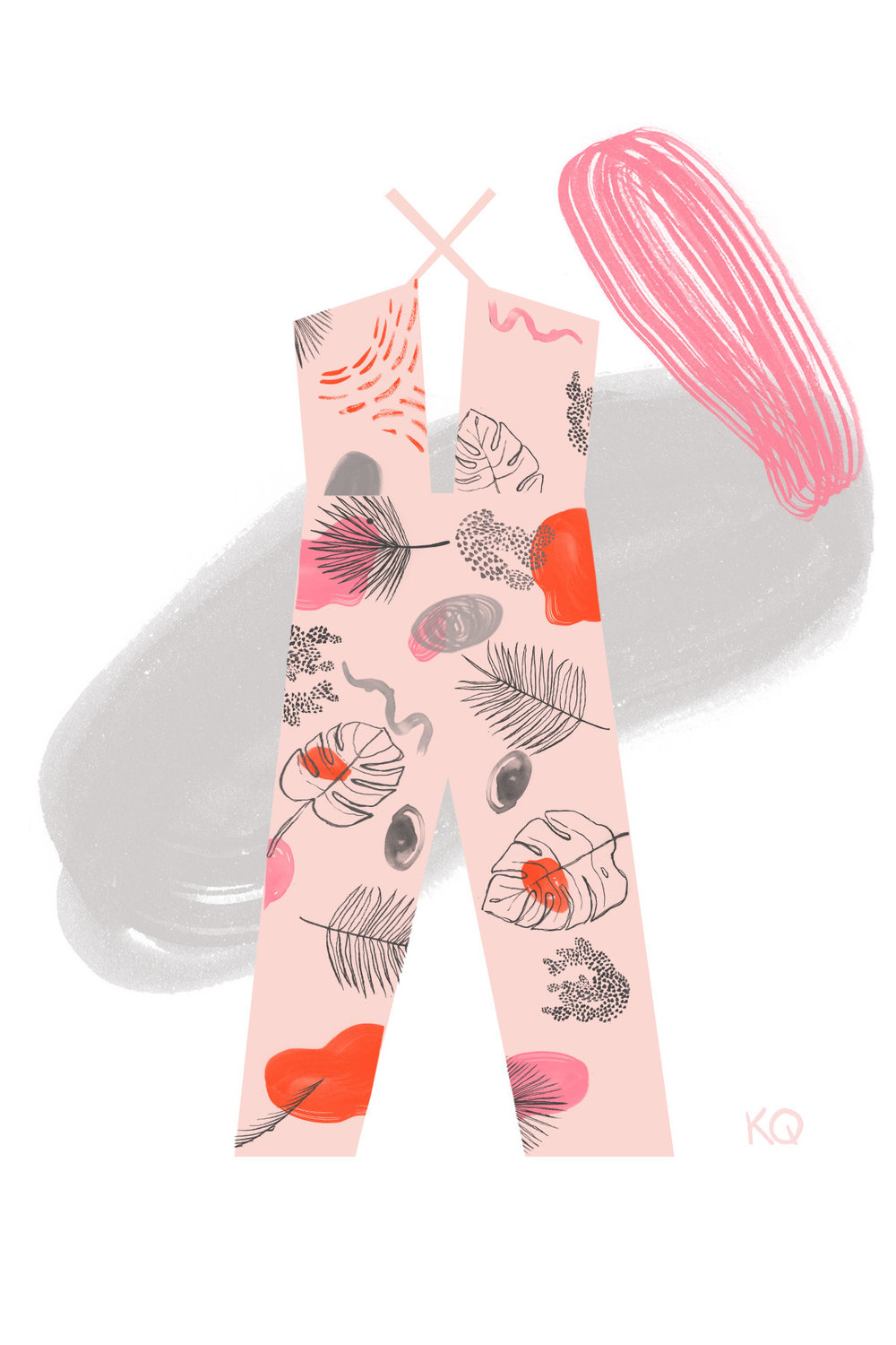 Palms in Pink Jumpsuit