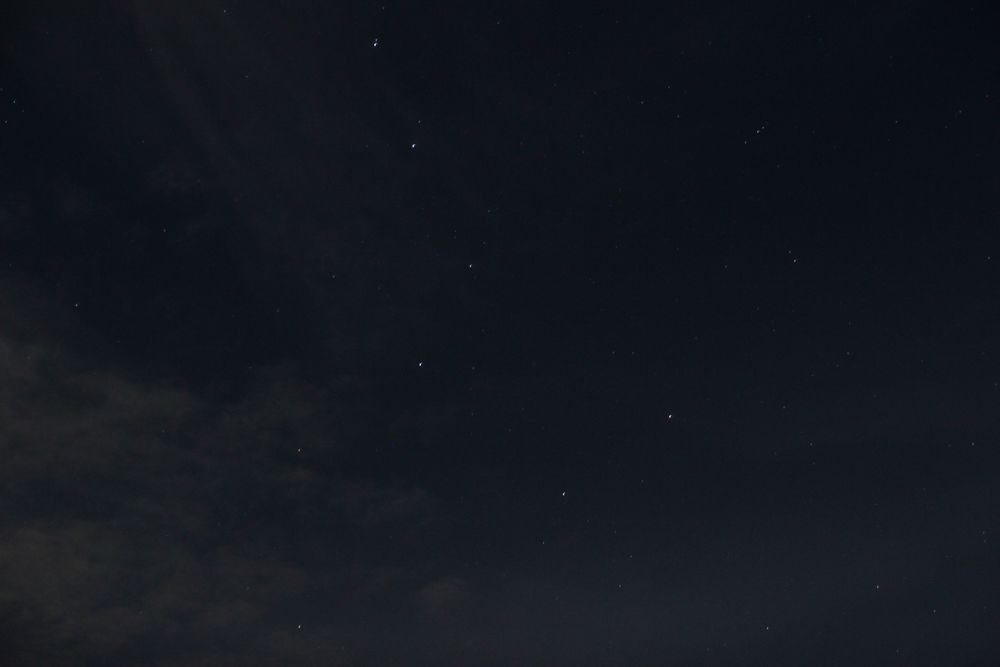 I also took one photo of the big dipper, just 'cause. I think it came out pretty well, considering I didn't use a telescope.