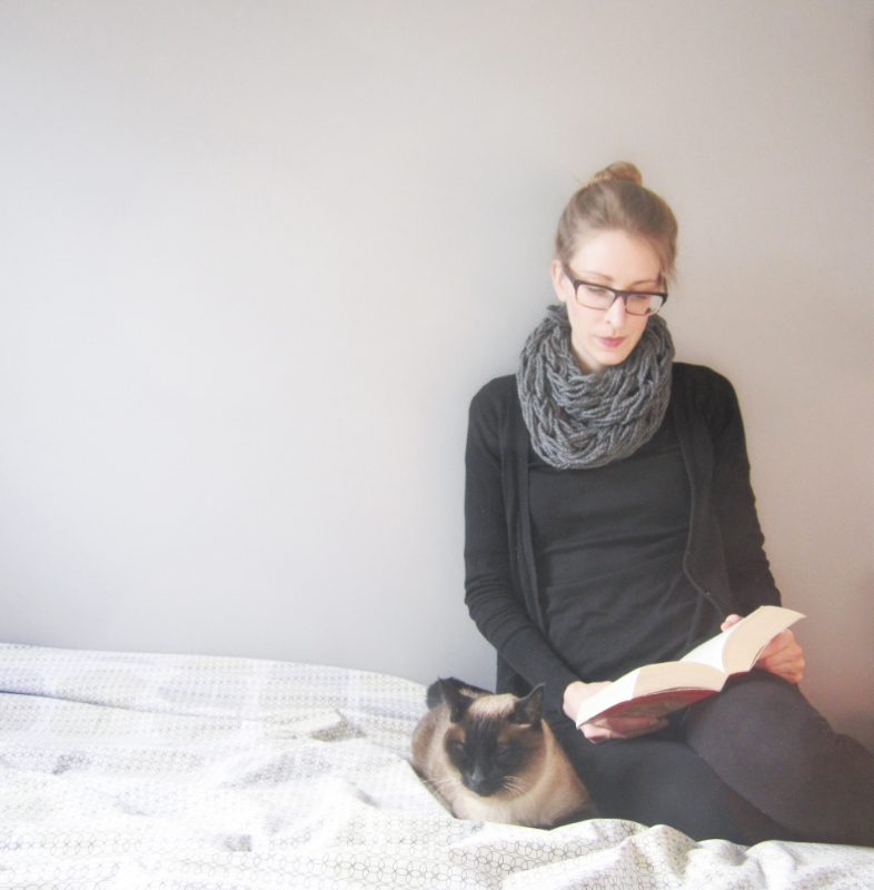 Two lies--I'm not actually reading that book (yet) and that's not my cat.