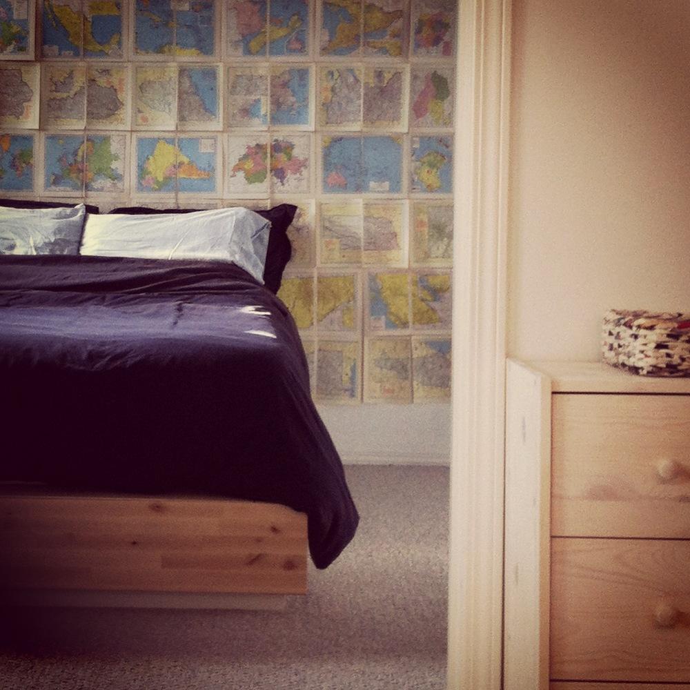 My Bedroom Full of Sweet Dreams of Maps.