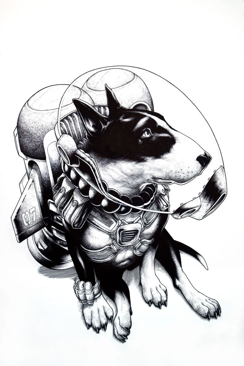 The final ink for Curtiss done on Bristol. (Approx. 30 x 40 inches)