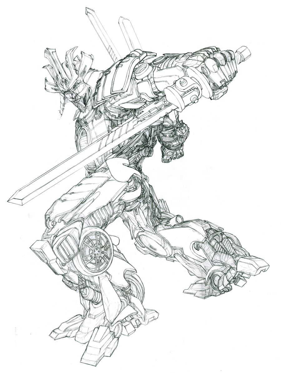 Transformers age of extinction gregory titus illustration for Transformers 4 coloring pages