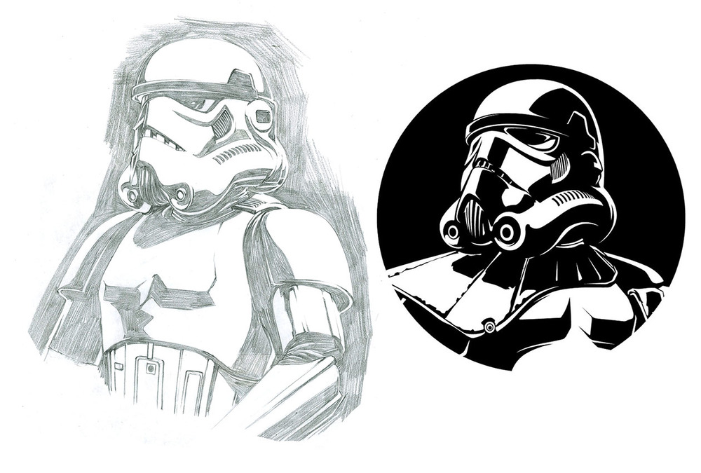 Stormtrooper Classic. In the end we added the shoulder pad for a little extra personality.
