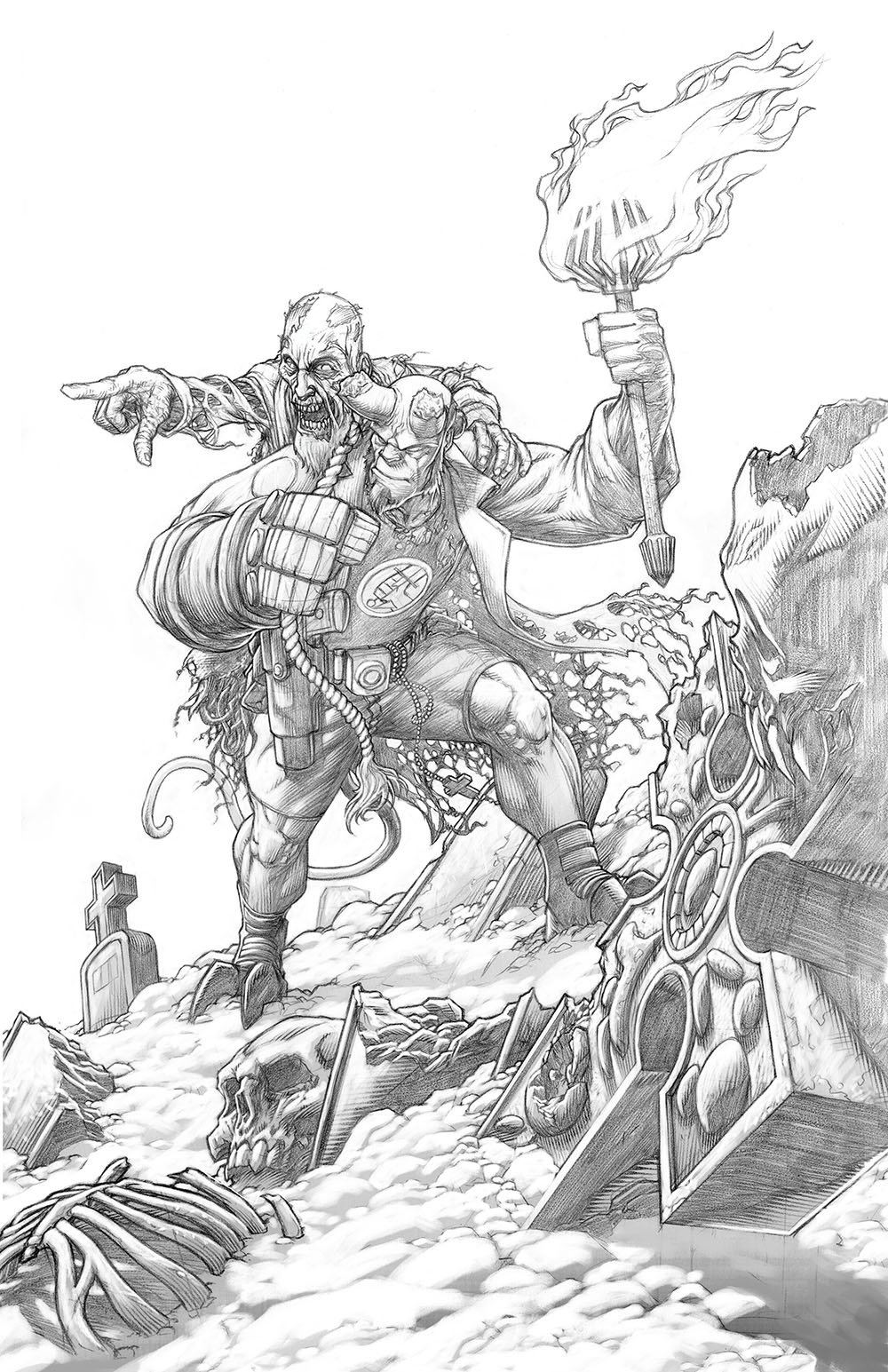 Hellboy commision/cover pencil sample.