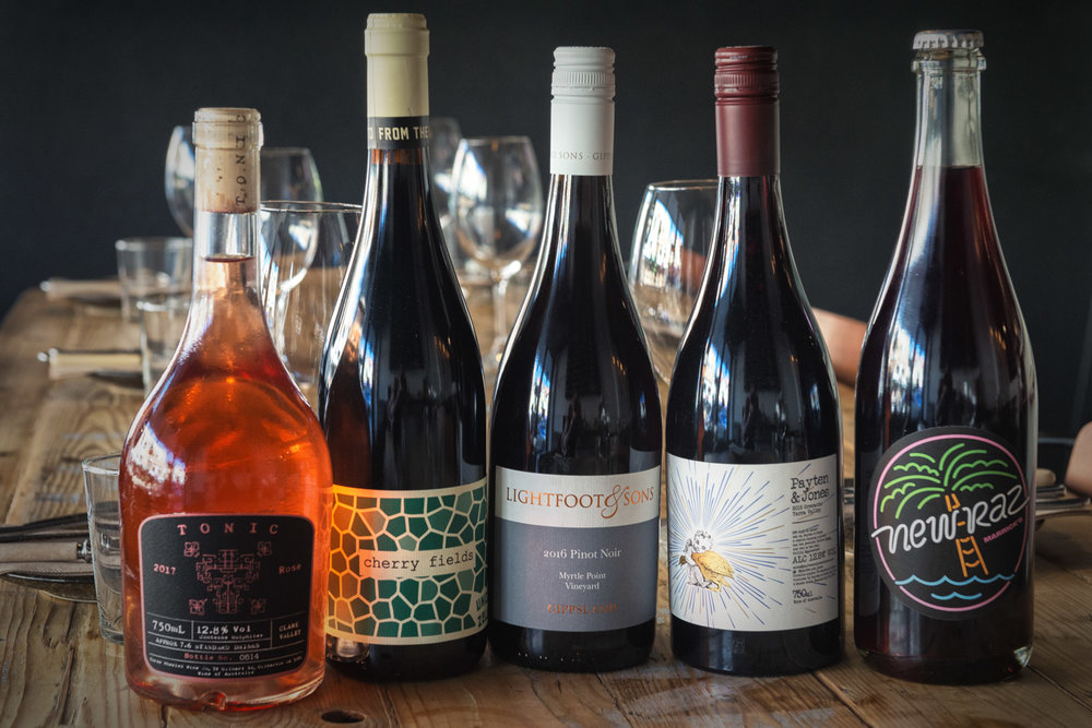 Natural Australian Wine Lineup May
