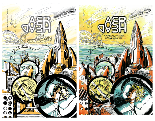 Two versions of page 1 side by side. There are at least 7 main differences between the two.