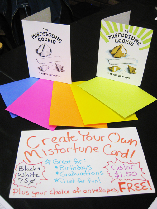 Misfortune Cookie Cards