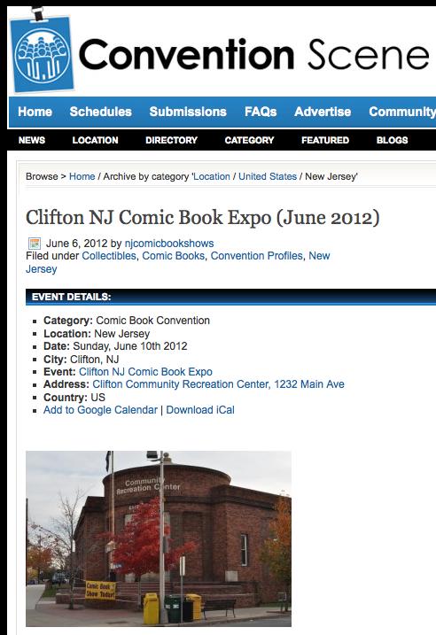 clifton NJ expo