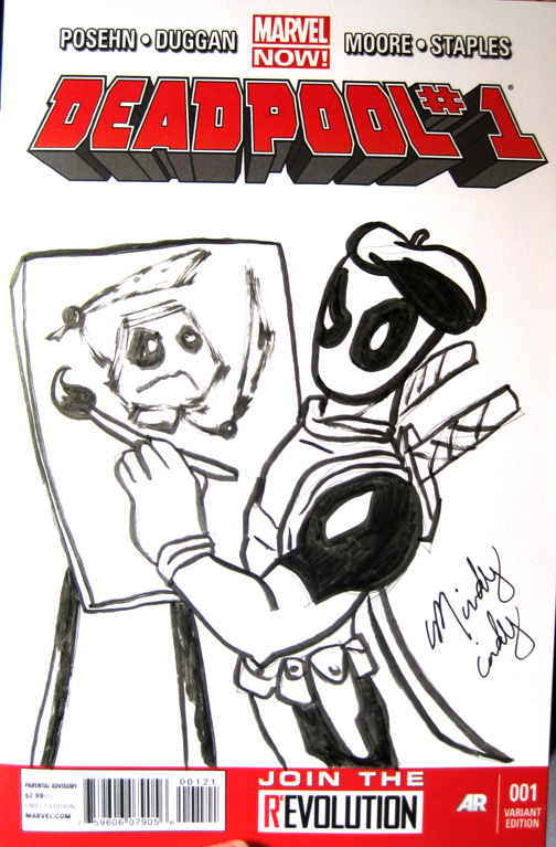 Deadpool Cover Sketch mindy indy