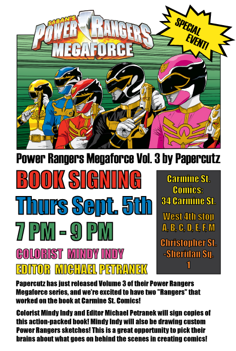 Power Rangers Megaforce Book Signing