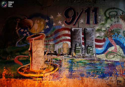 9/11 mural in Queens