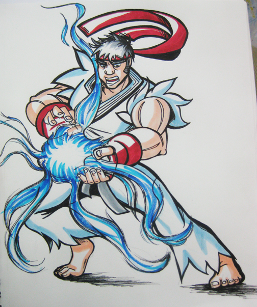 Mindy Indy colors Street Fighter Ryu