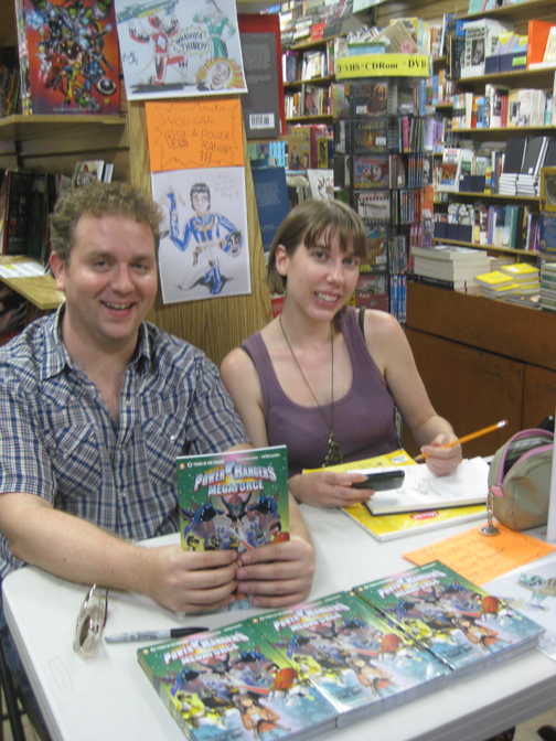 Michael Petranek and Mindy Indy at Carmine Street Comics