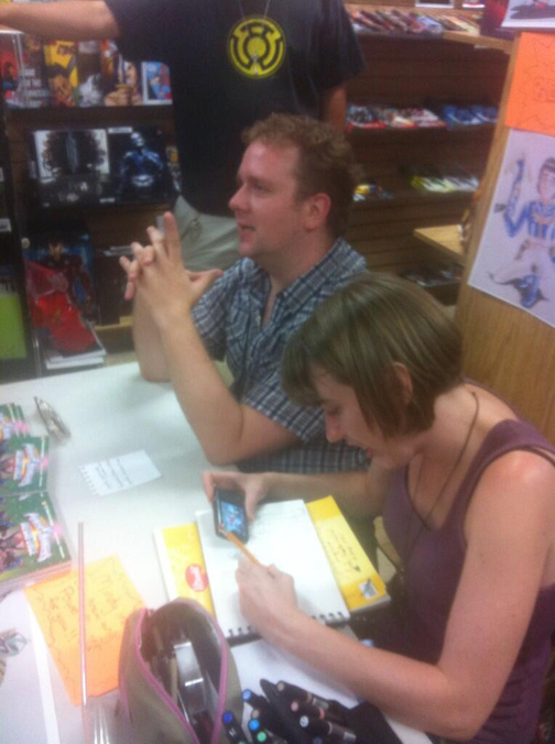 Mindy Indy and Michael Petranek at Carmine St. Comics!
