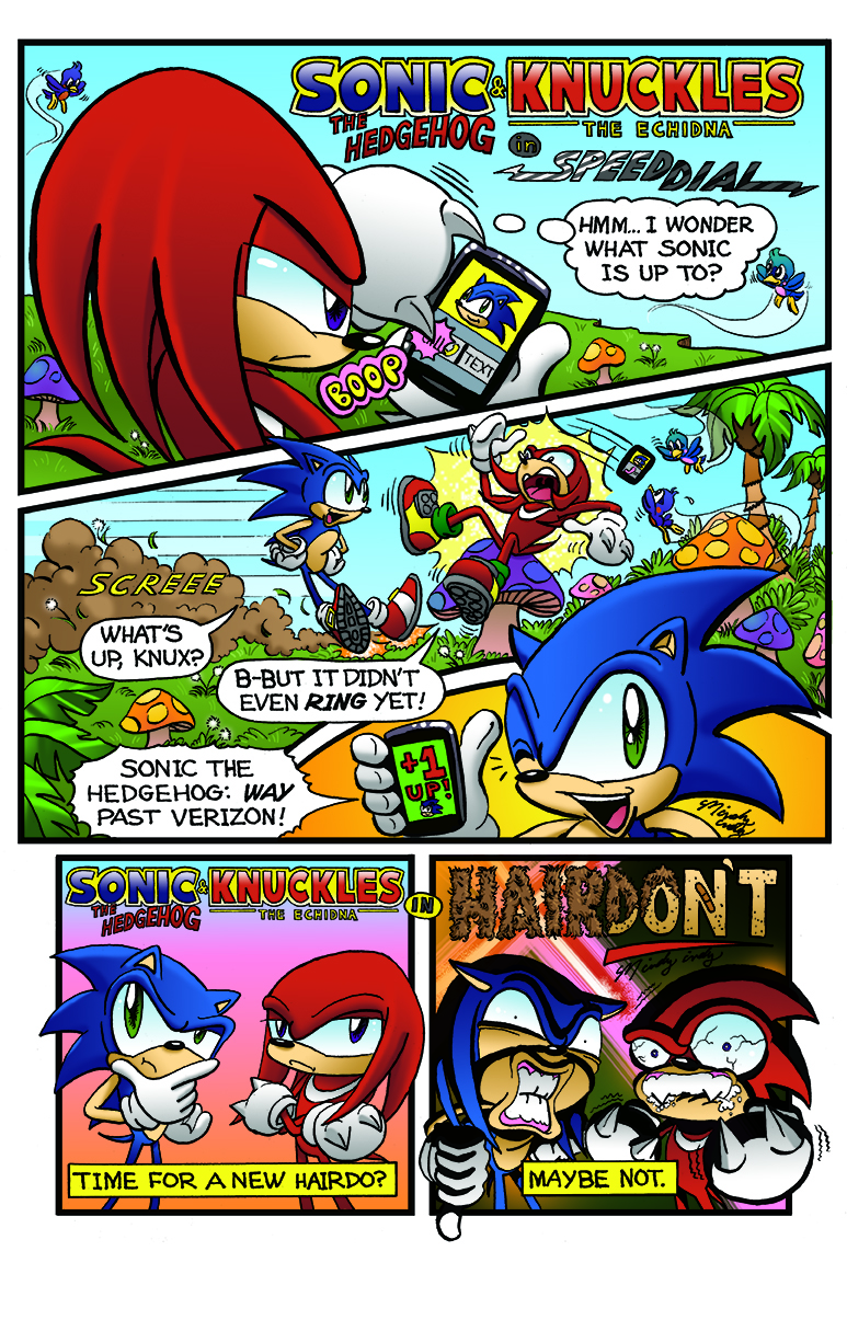 Mindy Indy's test page for Archie's Sonic the Hedgehog