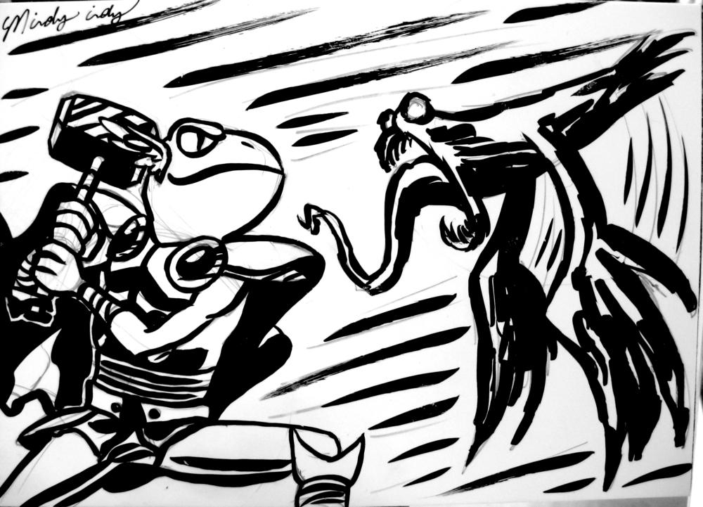 FROG THOR VS. VENOM PIGEON!!!
