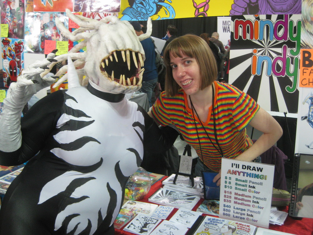 This lady met me 2 years ago at the Bronx comic con and is a costume designer.  She had an awesome voice alternator thing that really sounded like an alien!