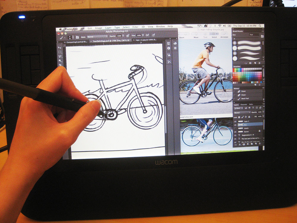 (...drawing bikes is still hard, though, no matter what medium you're using.)
