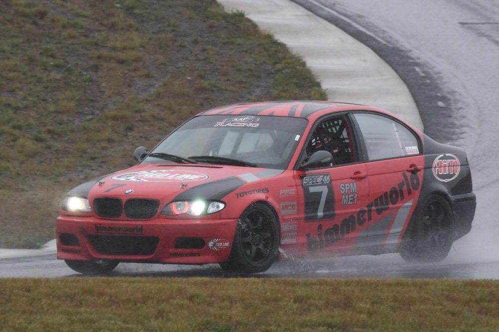 Saturday was a wet day all day and I went back and forth with Jason Fraser on fastest lap times!