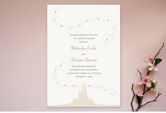 enchanted stars wedding invitation suite jody worthington With disney style wedding invitations